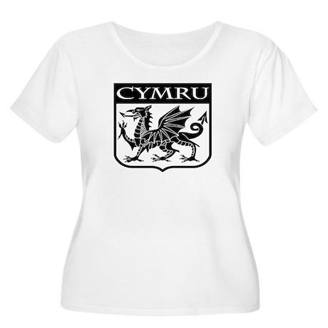 CYMRU Wales Women's Plus Size Scoop Neck T-Shirt