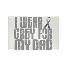 I Wear Grey For My Dad 16 Rectangle Magnet