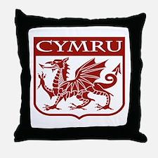 CYMRU Wales Throw Pillow