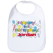 Jordan's 1st Birthday Bib