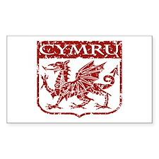CYMRU Wales Rectangle Decal