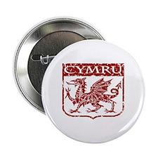 """CYMRU Wales 2.25"""" Button"""