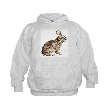 Cottontail Rabbit (Front) Kids Hoodie