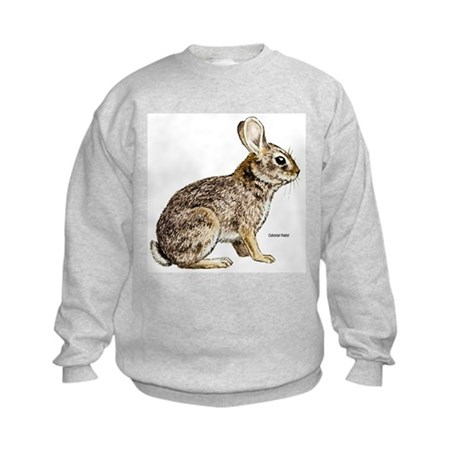 Cottontail Rabbit (Front) Kids Sweatshirt