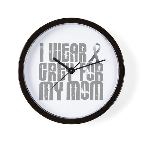 I Wear Grey For My Mom 16 Wall Clock