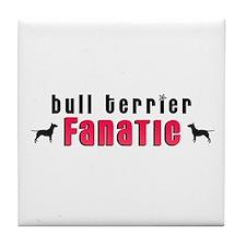 Bull Terrier Fanatic Tile Coaster