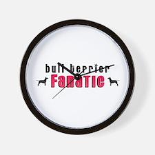 Bull Terrier Fanatic Wall Clock