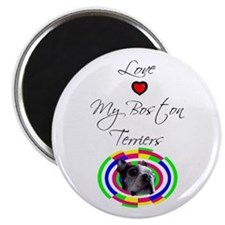 LOVE MY BOSTON TERRIER Magnet