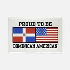 Proud Dominican American Rectangle Magnet