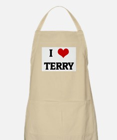 I Love TERRY BBQ Apron