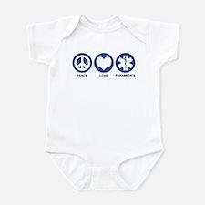 Peace Love Paramedics Infant Bodysuit
