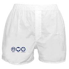 Peace Love Paramedics Boxer Shorts