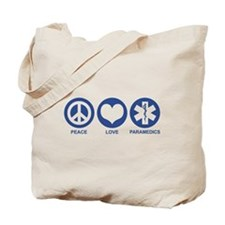 Peace Love Paramedics Tote Bag