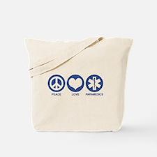 Peace Love Paramedics Tote Bag