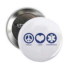 "Peace Love Paramedics 2.25"" Button"