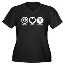 Peace Love Nursing Women's Plus Size V-Neck Dark T
