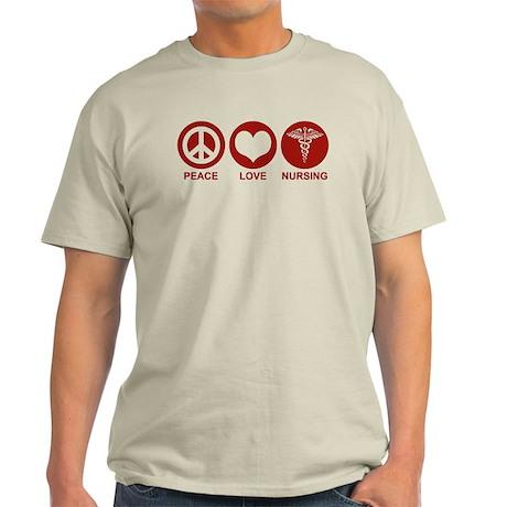 Peace Love Nursing Light T-Shirt