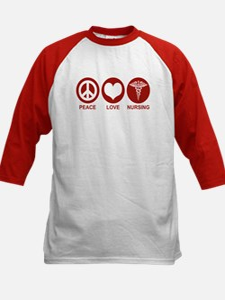 Peace Love Nursing Kids Baseball Jersey