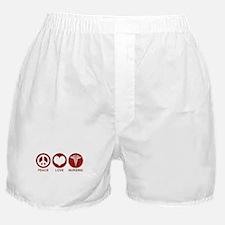 Peace Love Nursing Boxer Shorts