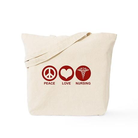 Peace Love Nursing Tote Bag