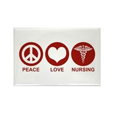 Peace Love Nursing Rectangle Magnet