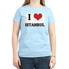 I Love Istanbul Women's Pink T-Shirt