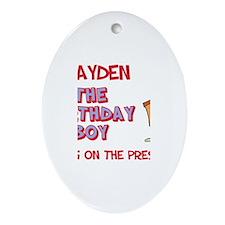 Brayden - The Birthday Boy Oval Ornament