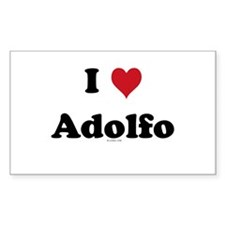 I love Adolfo Rectangle Decal