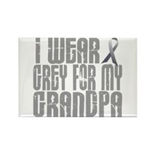 I Wear Grey For My Grandpa 16 Rectangle Magnet