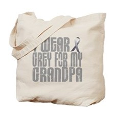 I Wear Grey For My Grandpa 16 Tote Bag