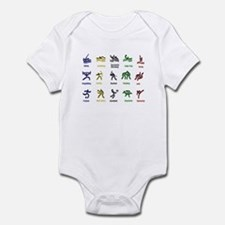 Unique Usa swimming Infant Bodysuit