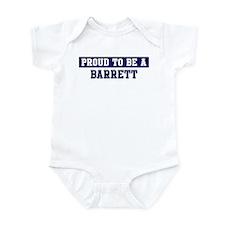 Proud to be Barrett Infant Bodysuit