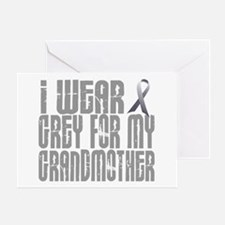 I Wear Grey For My Grandmother 16 Greeting Card