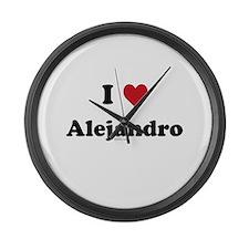 I love Alejandro Large Wall Clock