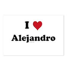 I love Alejandro Postcards (Package of 8)