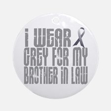 I Wear Grey For My Brother-In-Law 16 Ornament (Rou