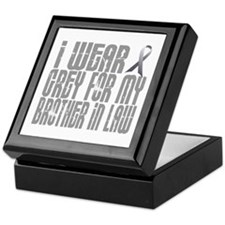 I Wear Grey For My Brother-In-Law 16 Keepsake Box