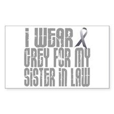 I Wear Grey For My Sister-In-Law 16 Decal