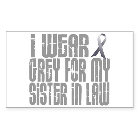 I Wear Grey For My Sister-In-Law 16 Sticker (Recta