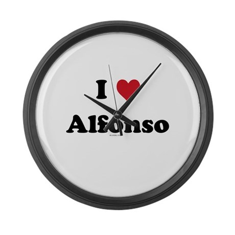 I love Alfonso Large Wall Clock