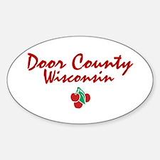 Door County Oval Decal