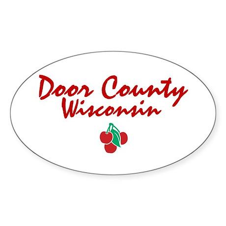 Door County Oval Sticker
