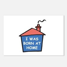 I was born at home Postcards (Package of 8)