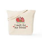 Breast Cancer Walk Friend Tote Bag