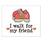 Breast Cancer Walk Friend Small Poster