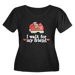Breast Cancer Walk Friend Women's Plus Size Scoop