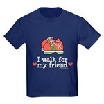 Breast Cancer Walk Friend Kids Dark T-Shirt