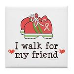 Breast Cancer Walk Friend Tile Coaster