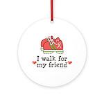 Breast Cancer Walk Friend Ornament (Round)