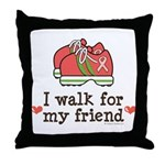 Breast Cancer Walk Friend Throw Pillow
